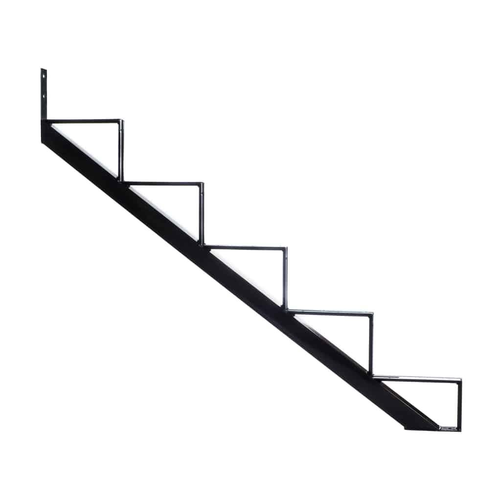 Steel Stair riser – 5 Steps – Black