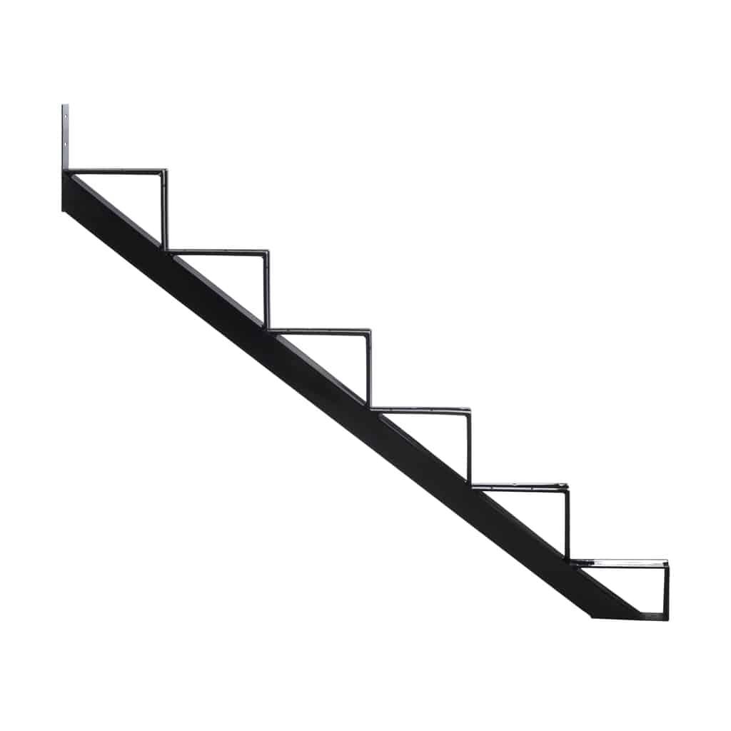 Steel Stair riser – 6 Steps – Black