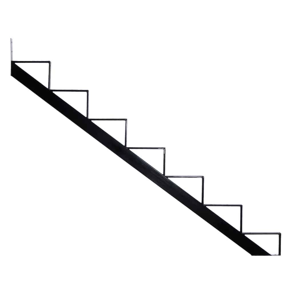Steel Stair riser – 7 Steps – Black