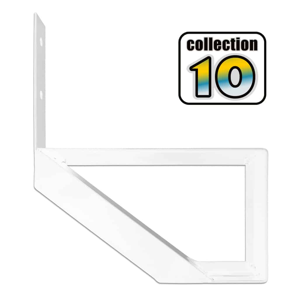 Aluminium Stair Riser 1 step white – COLLECTION 10 (9 1/16″)