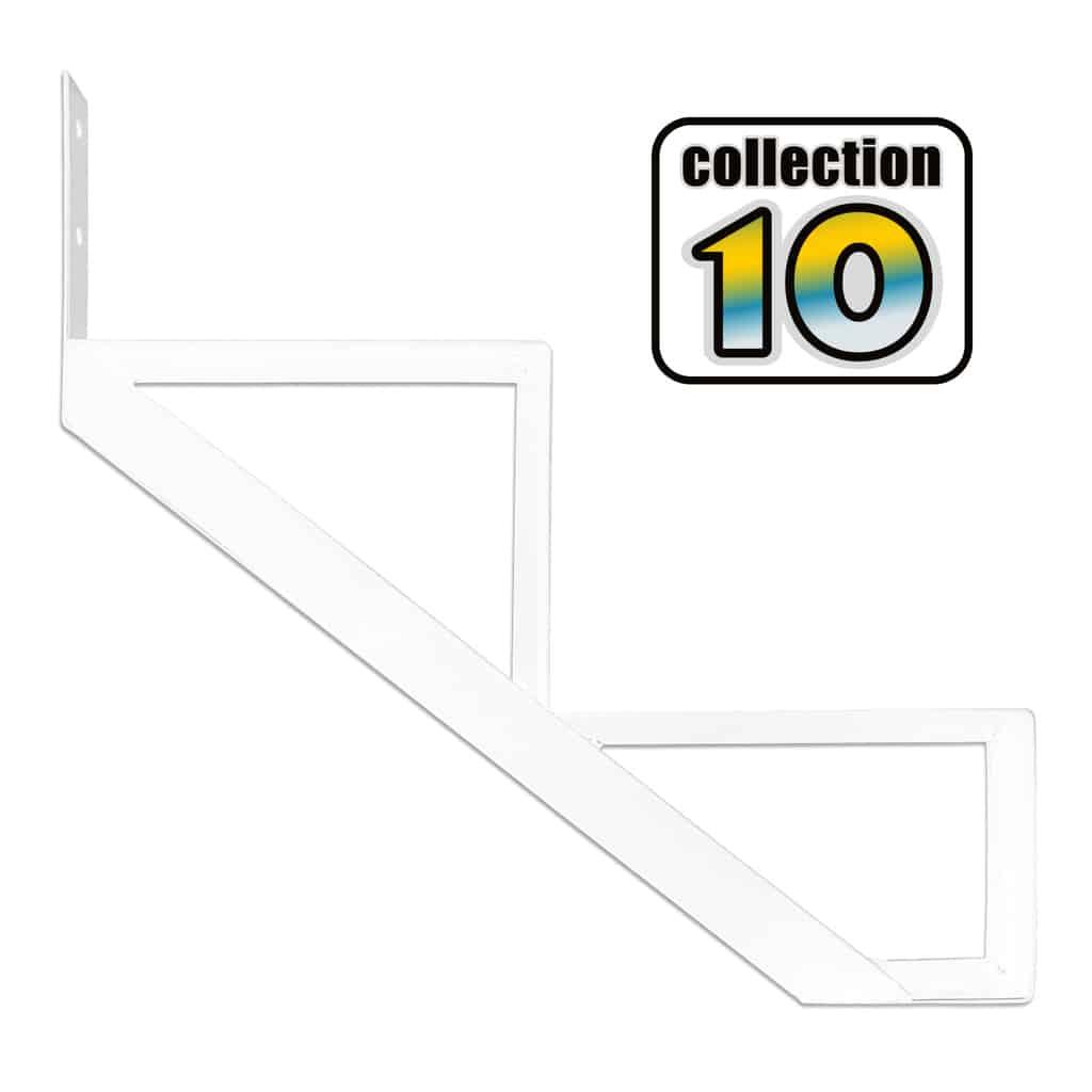 Aluminium Stair Riser 2 steps white – COLLECTION 10 (9 1/16″)