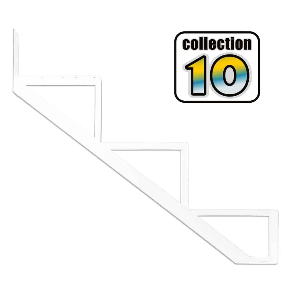 Aluminium Stair Riser 3 steps white – COLLECTION 10 (9 1/16″)