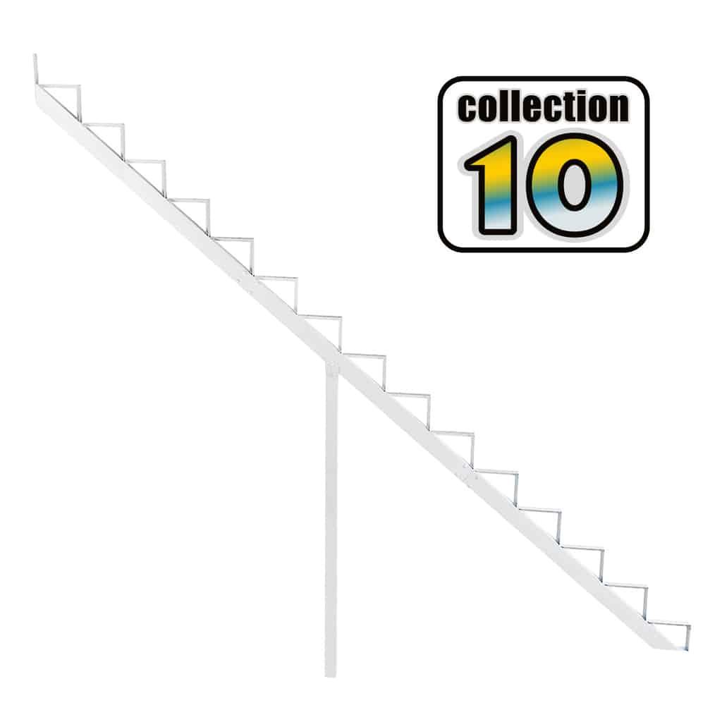 Aluminium Stair Riser 15 steps white – COLLECTION 10 (9 1/16″)