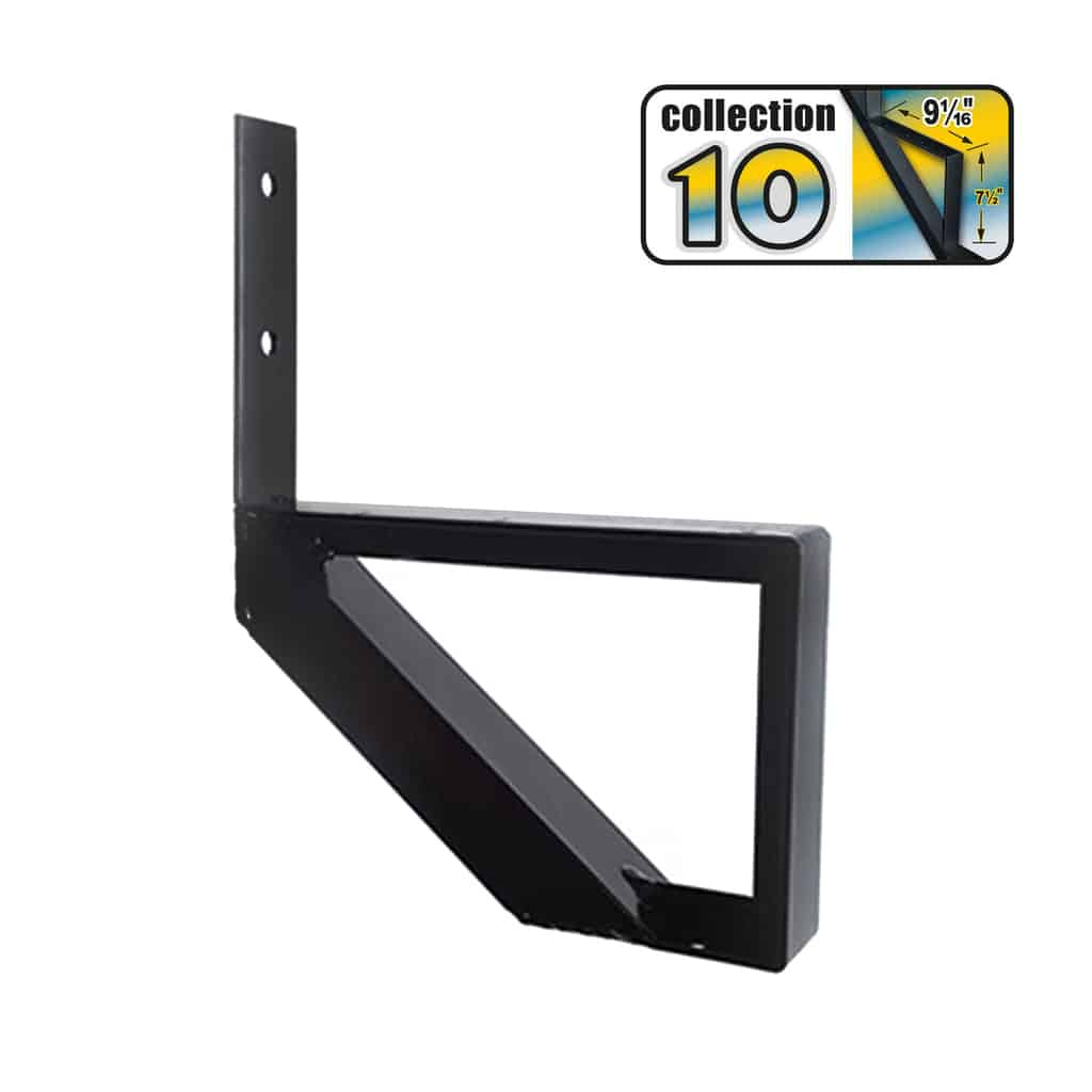 Aluminium Stair Riser 1 step black – COLLECTION 10 (9 1/16″)