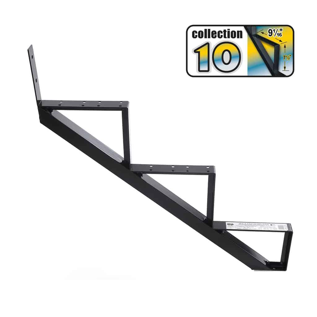 Aluminium Stair Riser 3 steps black – COLLECTION 10 (9 1/16″)