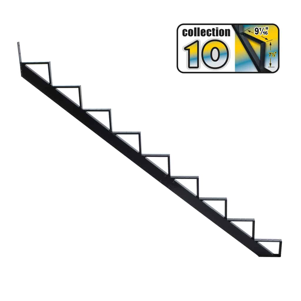 Aluminium Stair Riser 9 steps black – COLLECTION 10 (9 1/16″)