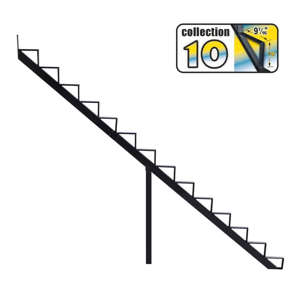 Aluminium Stair Riser 14 steps black – COLLECTION 10 (9 1/16″)
