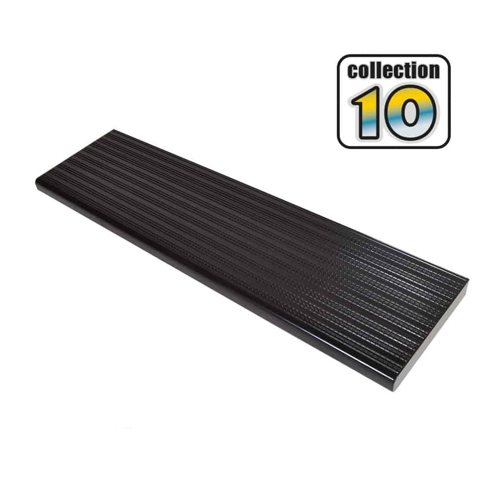 Aluminium stair treads 48″ Black – COLLECTION 10
