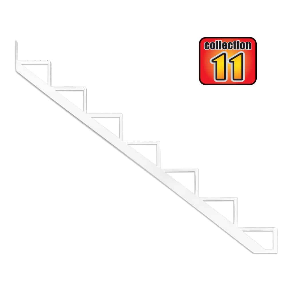 Aluminium Stair Riser 7 steps-COLLECTION 11 (10 1/4″) – white