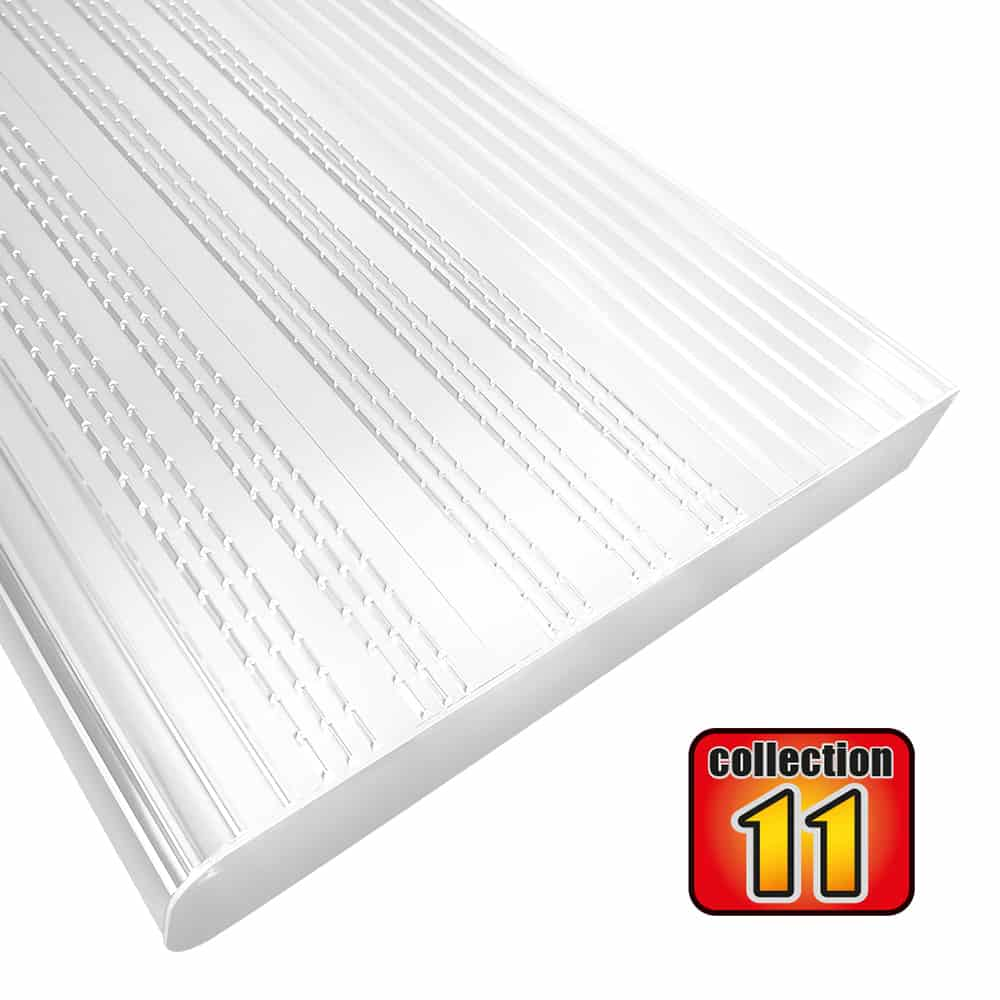Aluminium stair treads 42″ White – COLLECTION 11